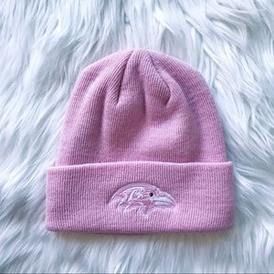Baltimore Ravens Pink Cuffed Knit Hat